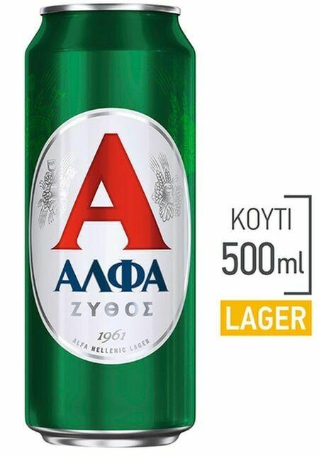 ΑΛΦΑ 500ml ΜΠΥΡΑ ΚΟΥΤΙ