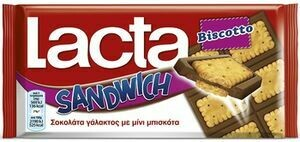 LACTA 87gr ΣΟΚΟΛΑΤΑ BISCOTO SANDWICH