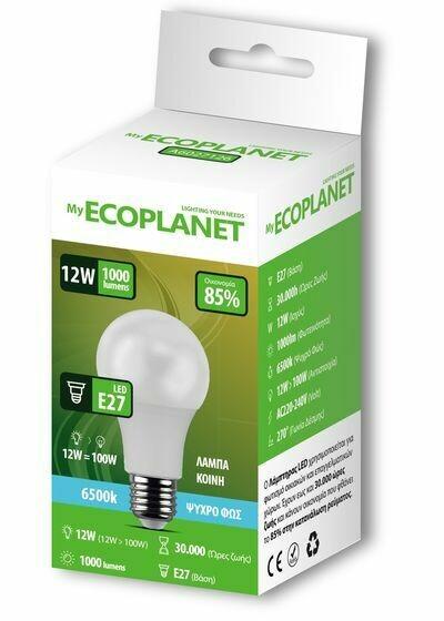 ECOPLANET 12W=100W E27 ΛΑΜΠΑ LED 6500K