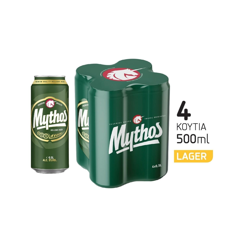 MYTHOS 4Χ500ml ΜΠΥΡΑ ΚΟΥΤΙ
