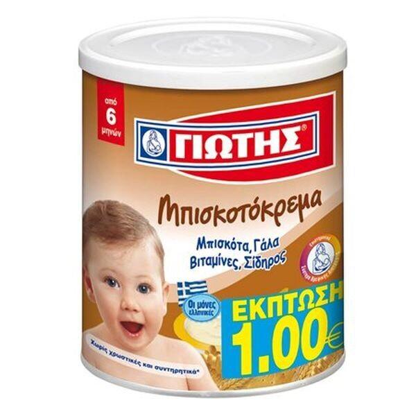 ΓΙΩΤΗΣ 300gr ΜΠΙΣΚΟΤΟΚΡΕΜΑ -1 €