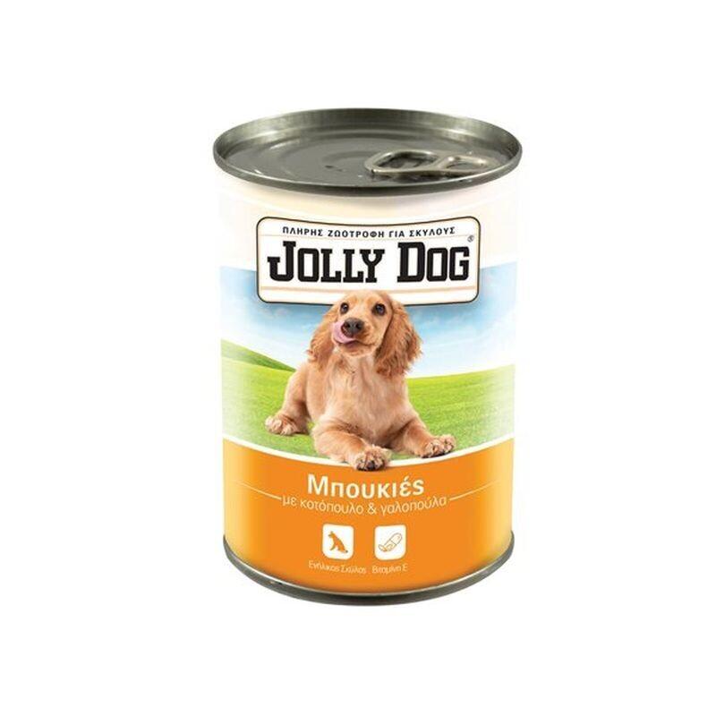 JOLLY DOG 405gr ΖΩΟΤΡΟΦΗ ΣΚΥΛΟΥ ΜΠΟΥΚΙΕΣ ΜΕ ΚΟΤΟΠΟΥΛΟ & ΓΑΛΟΠΟΥΛΑ
