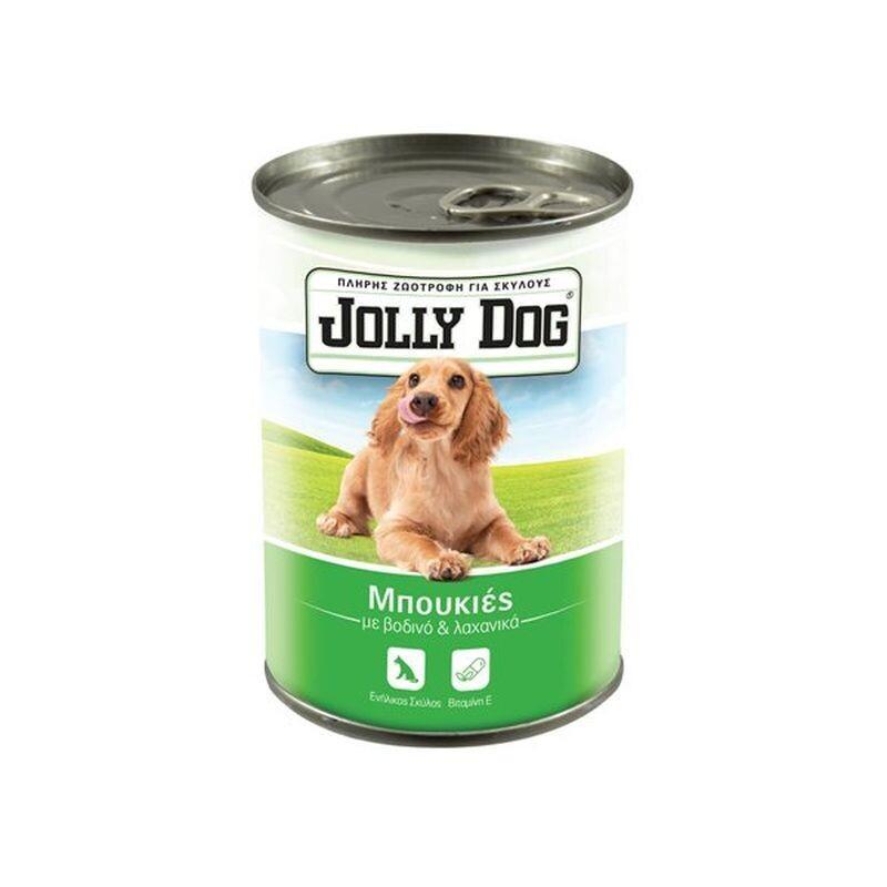JOLLY DOG 405gr ΖΩΟΤΡΟΦΗ ΣΚΥΛΟΥ ΜΠΟΥΚΙΕΣ ΜΕ ΒΟΔΙΝΟ & ΛΑΧΑΝIKA
