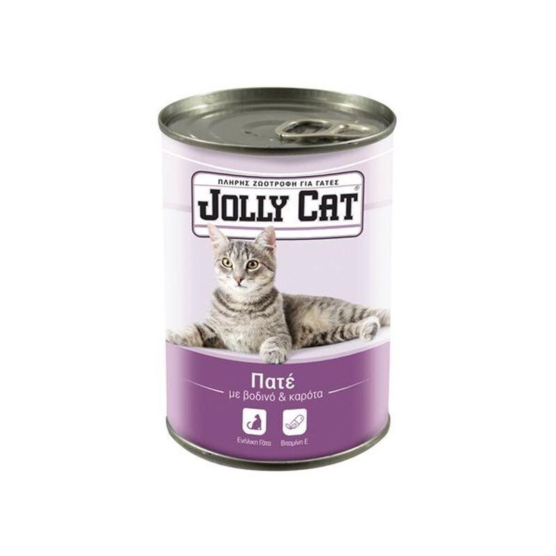 JOLLY CAT 400gr ΖΩΟΤΡΟΦΗ ΓΙΑ ΓΑΤΕΣ ΠΑΤΕ ΜΕ ΒΟΔΙΝΟ ΚΑΙ ΚΑΡΟΤΑ