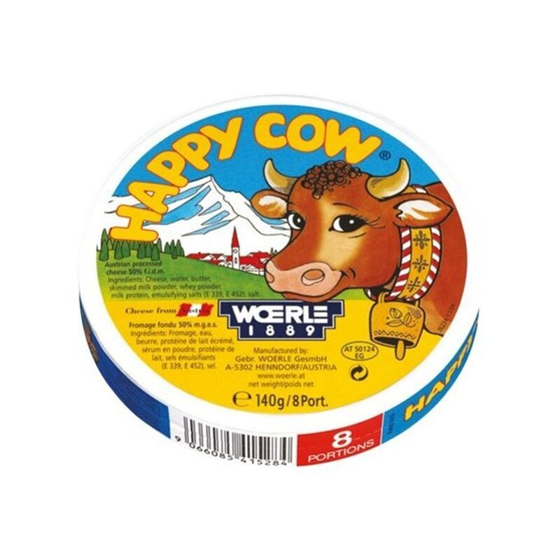 HAPPY COW 140gr 8-ΤΕΜ COW ΤΥΡΑΚΙΑ ΤΡΙΓΩΝΑ