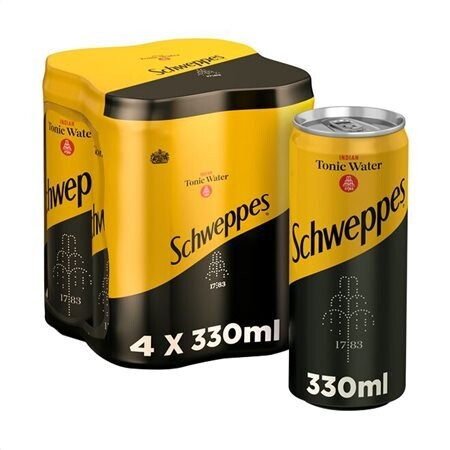 SCHWEPPES 4x330ml INDIAN TONIC WATER