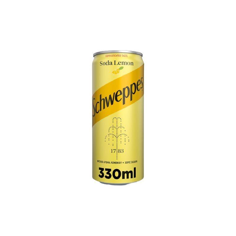 SCHWEPPES 330ml ΣΟΔΑ ΛΕΜΟΝΙ