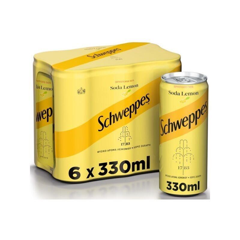 SCHWEPPES 6X330ml ΣΟΔΑ ΛΕΜΟΝΙ