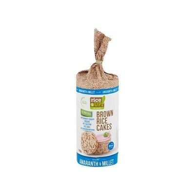 BROWN RICE 120gr CAKES ΜΕ ΑΜΑΡΑΝΤΟ & ΚΕΧΡΙ