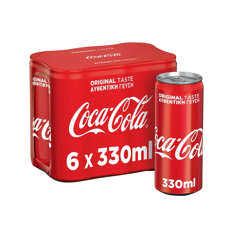 COCA COLA 6X330ml ΑΝΑΨΥΚΤΙΚΟ ΚΟΥΤΙ