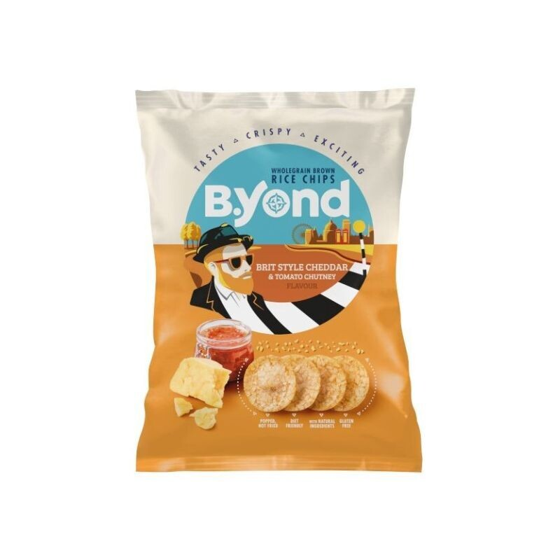 B.YOND 70gr RICE CHIPS BRIT STYLE CHEDDAR & TOMATO