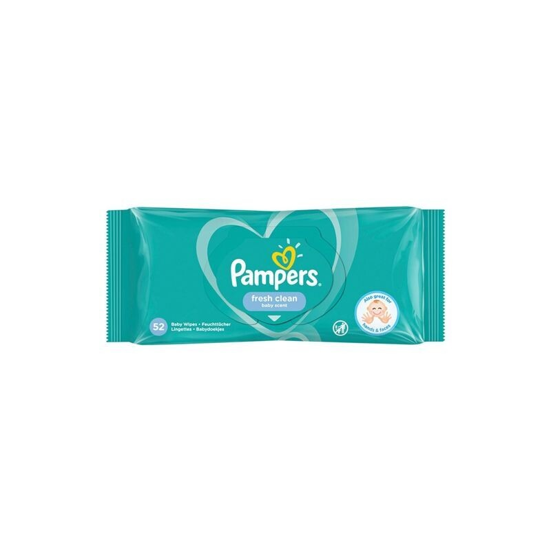 PAMPERS 52 ΤΜΧ FRESH CLEAN ΜΩΡΟΜΑΝΤΗΛΑ 0% ALCOHOL