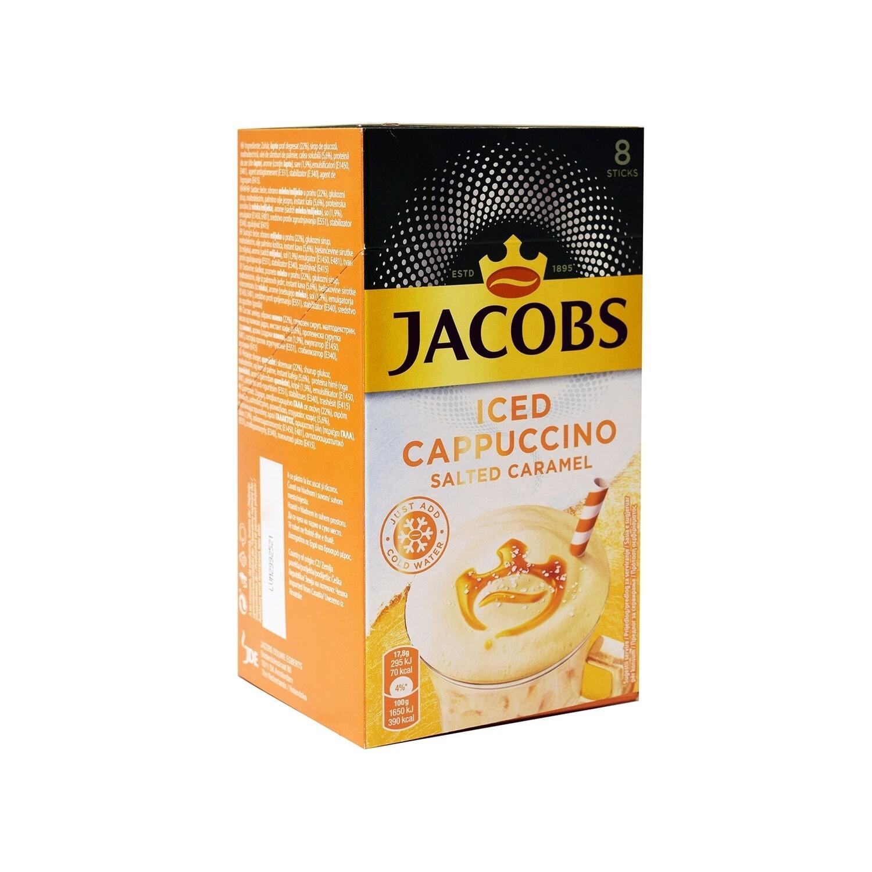 JACOBS 8X17,8gr ΣΤΙΓΜΙΑΙΟΣ ΚΑΦΕΣ ICED CAPPUCCINO SALTED CARAMEL