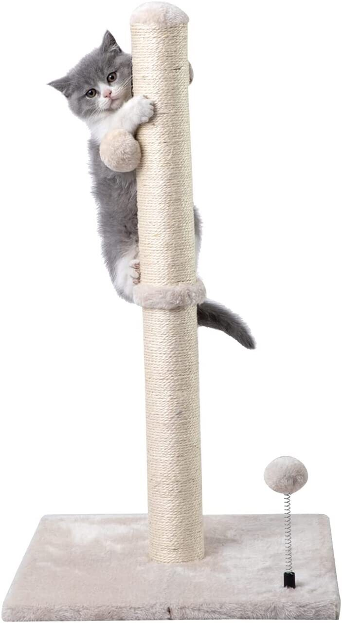 """PetNest 29"""" Tall Cat Scratching Post - Cat Claw Scratcher with Hanging Ball - Scratching Posts for Indoor Large Cats"""