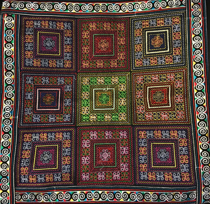 Hmong squares Pillow Case