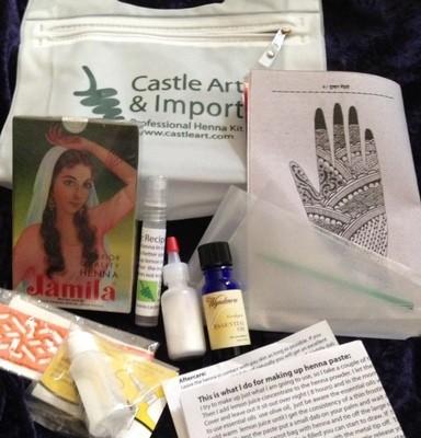 Castle Art Professional Henna Kit