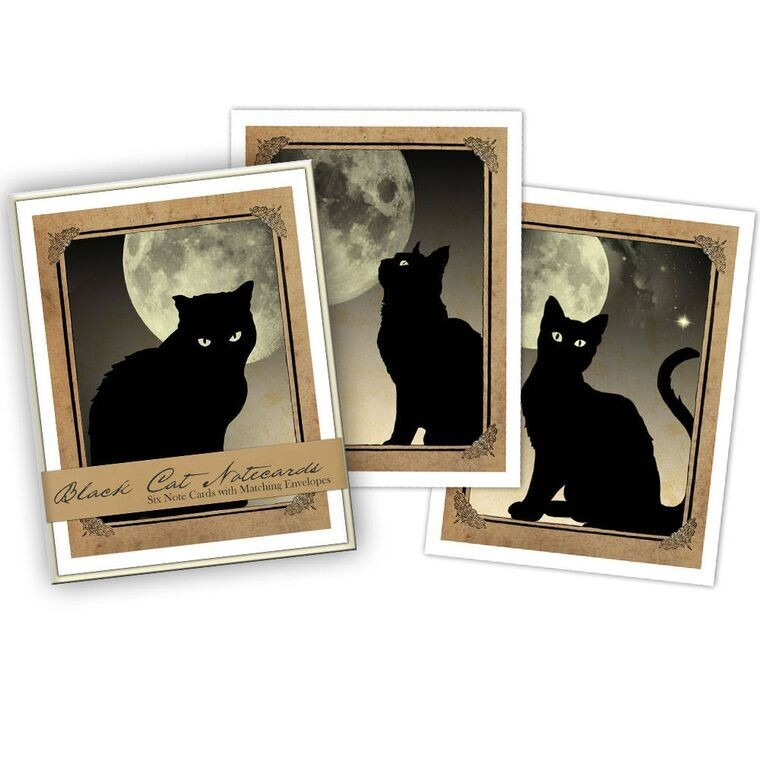 Black Cat Boxed Notecards