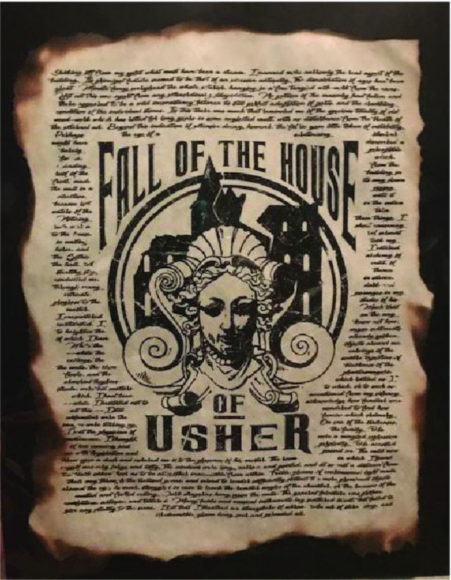 Apothecary Print: Fall of the House of Usher