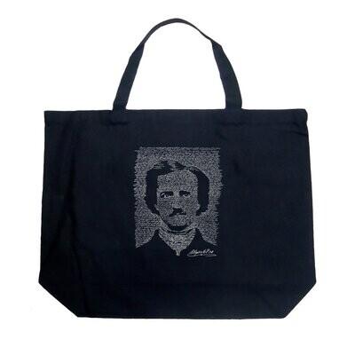 Raven Portrait Large Tote Bag