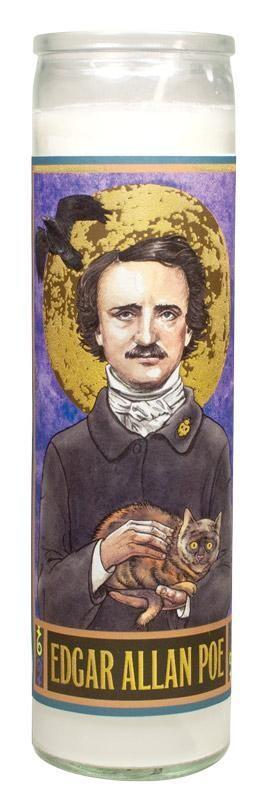 Edgar Allan Poe Secular Saint  Candle