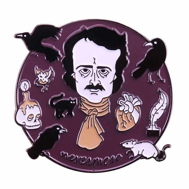Purple Poe Pin