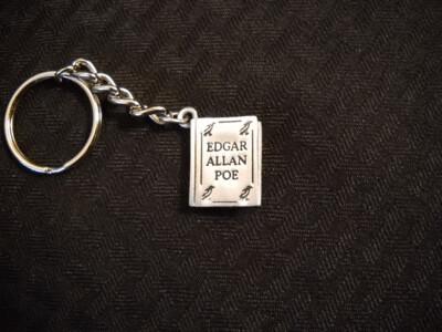 Pewter Book Keychain