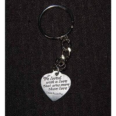Pewter Heart Keychain
