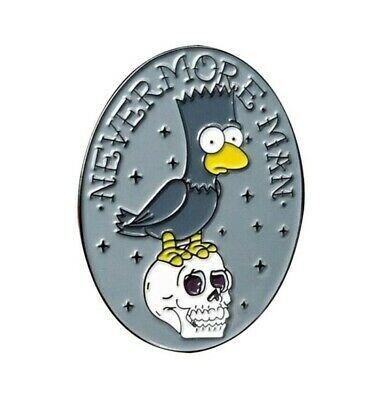 Bart Simpson Nevermore Pin