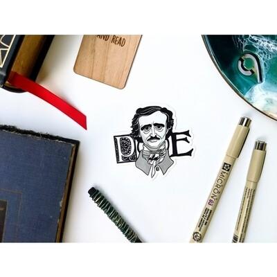 Poe B&W Sticker