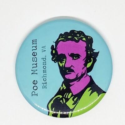 Pop Art Poe Round Magnet