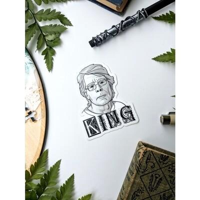 King B&W Sticker