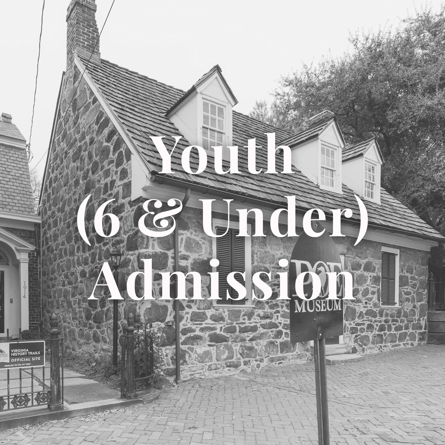 Youth (6 & Under) Museum Admission
