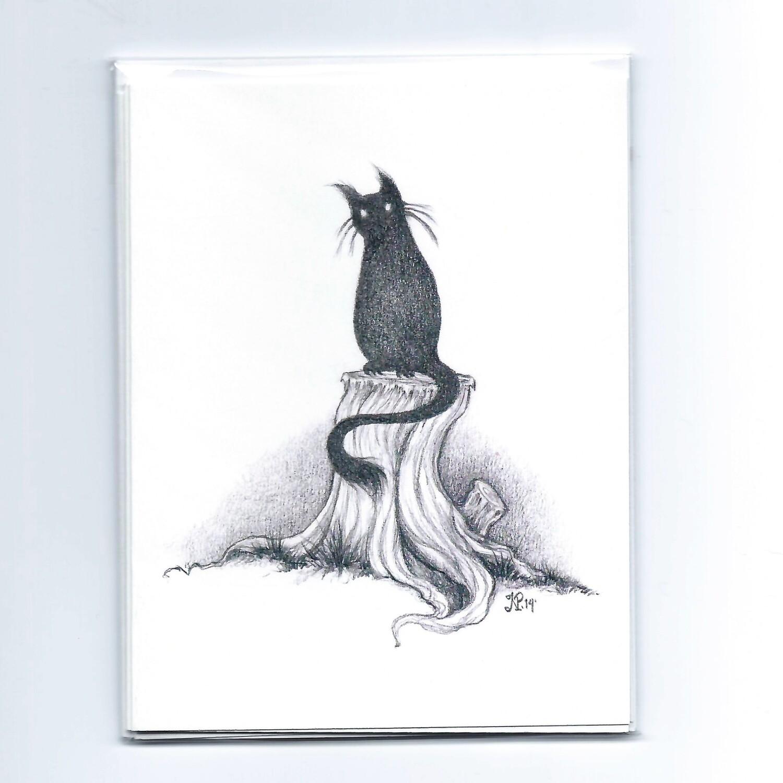 Nicole Pisaniello Black Cat Note Cards