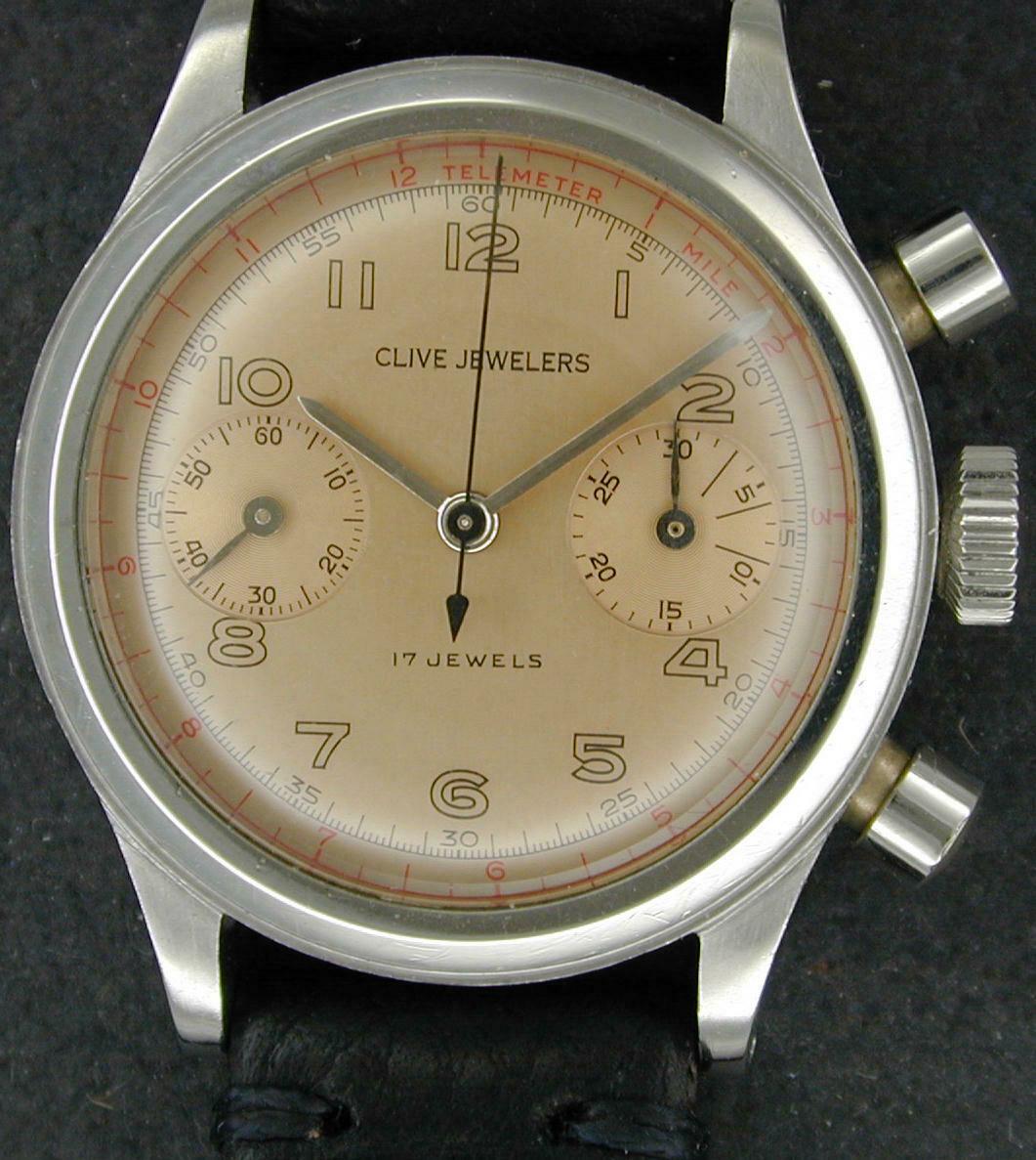 Clive Jewelers Chronograph Valjoux 23
