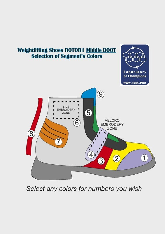 Weightlifting Shoes ROTOR1 Middle BOOT Custom Colors