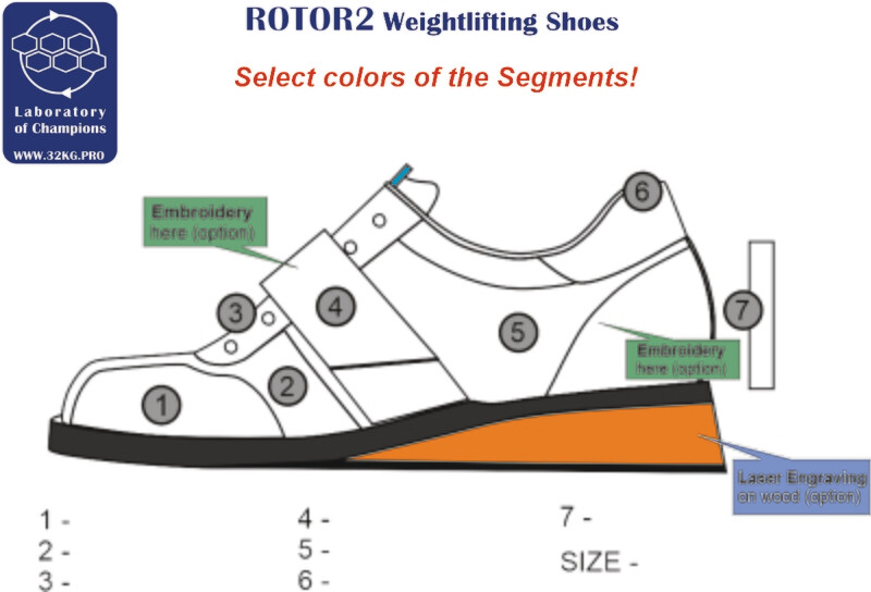 Weightlifting Shoes ROTOR2 Custom Colors