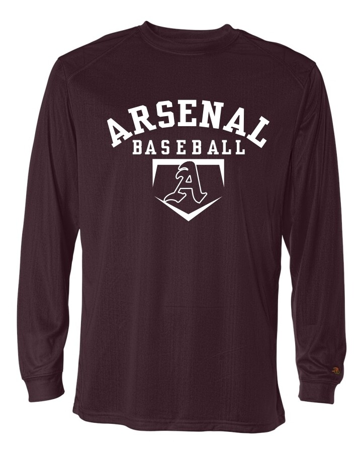 ARSN-4104-B-CORE LONG SLEEVE-T MAROON