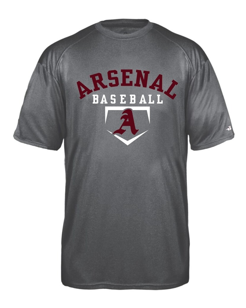 ARSN-2320-YOUTH PRO HEATHER T-SHIRT CARBON HEATHER