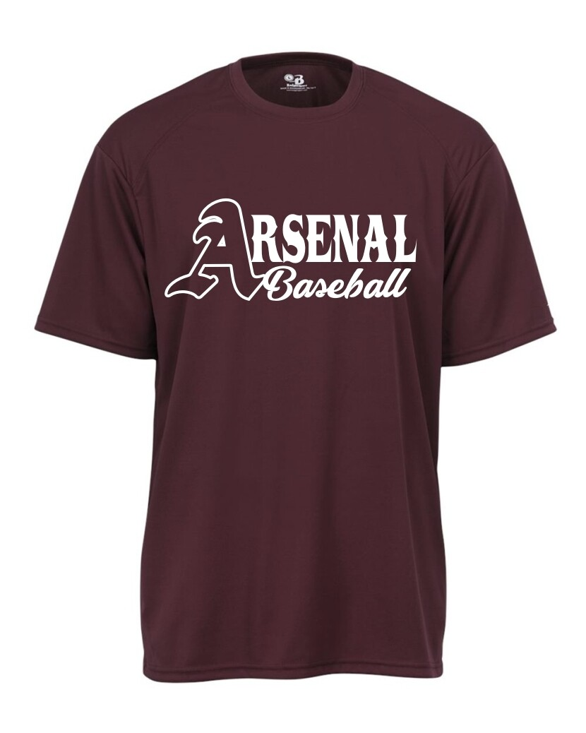ARSN-2120-YOUTH B-CORE T-SHIRT MAROON