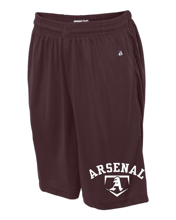 ARSN-4119-POCKETED SHORTS MAROON