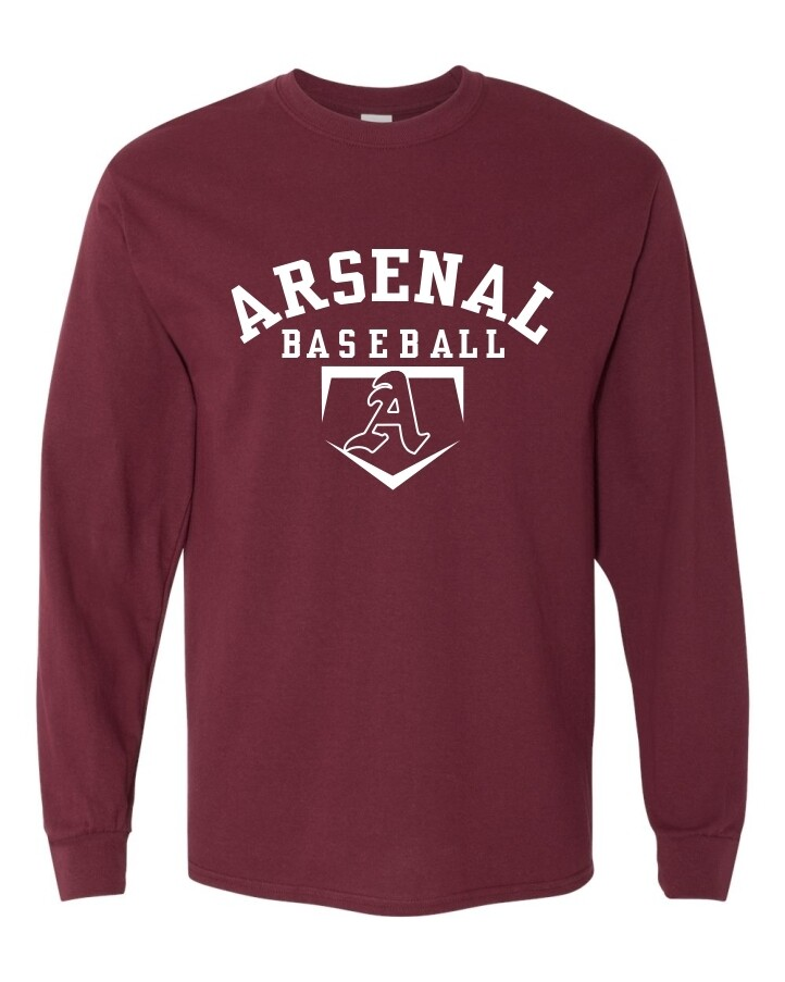 ARSN-5400 LONG SLEEVE-T MAROON