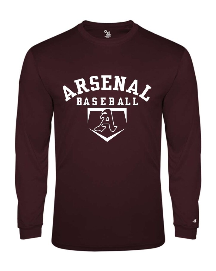 ARSN-2004-YOUTH LONG SLEEVE-T MAROON