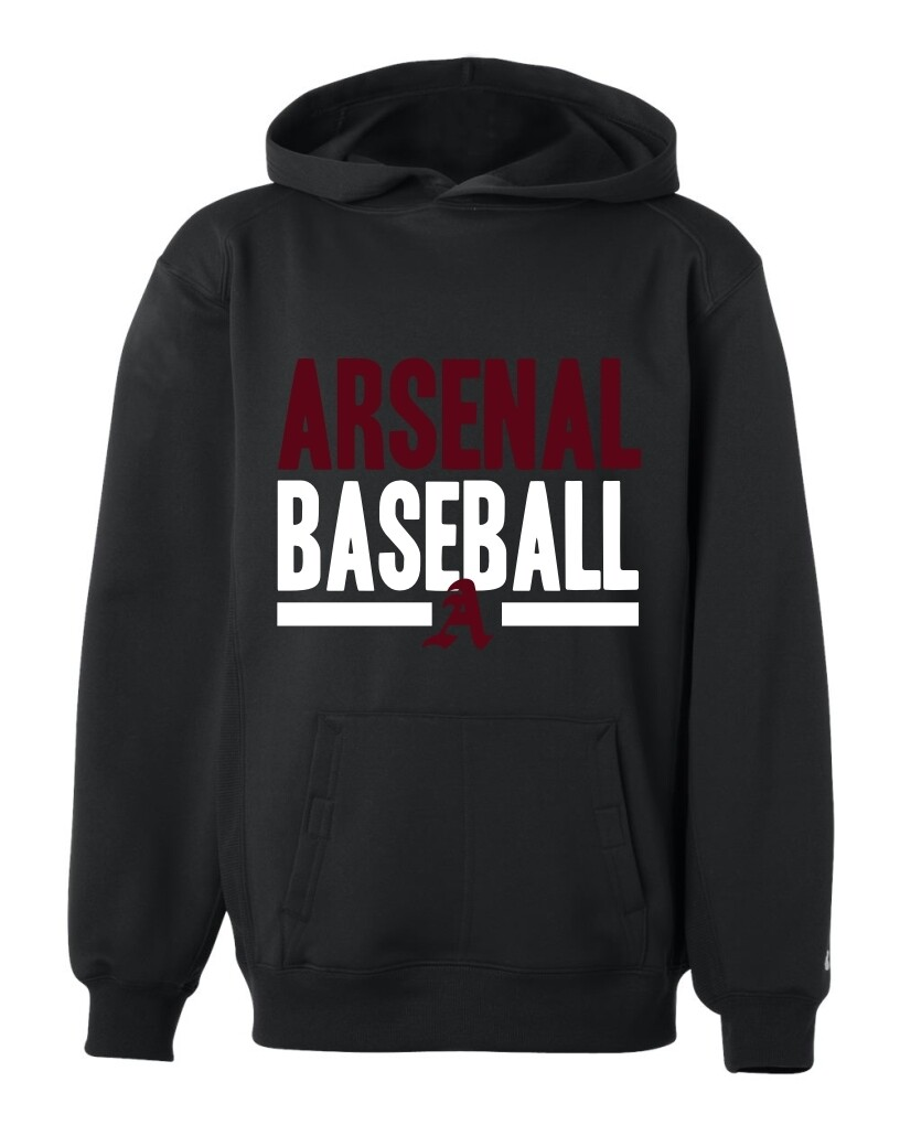 ARSN-2454-YOUTH DRI-FIT PULLOVER HOODIE BLACK