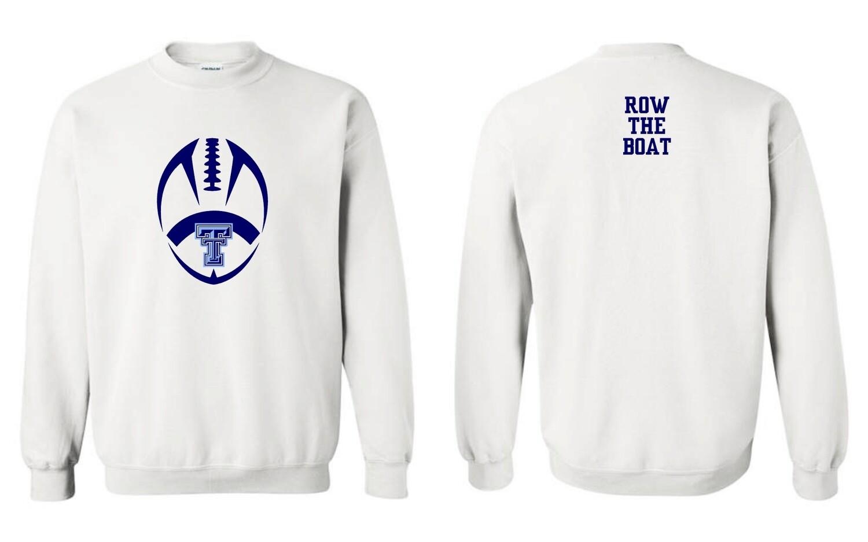 TROJANS-#18000 Gildan Crewneck Sweatshirt (White)