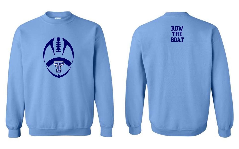 TROJANS-#18000 Gildan Crewneck Sweatshirt (Carolina Blue)