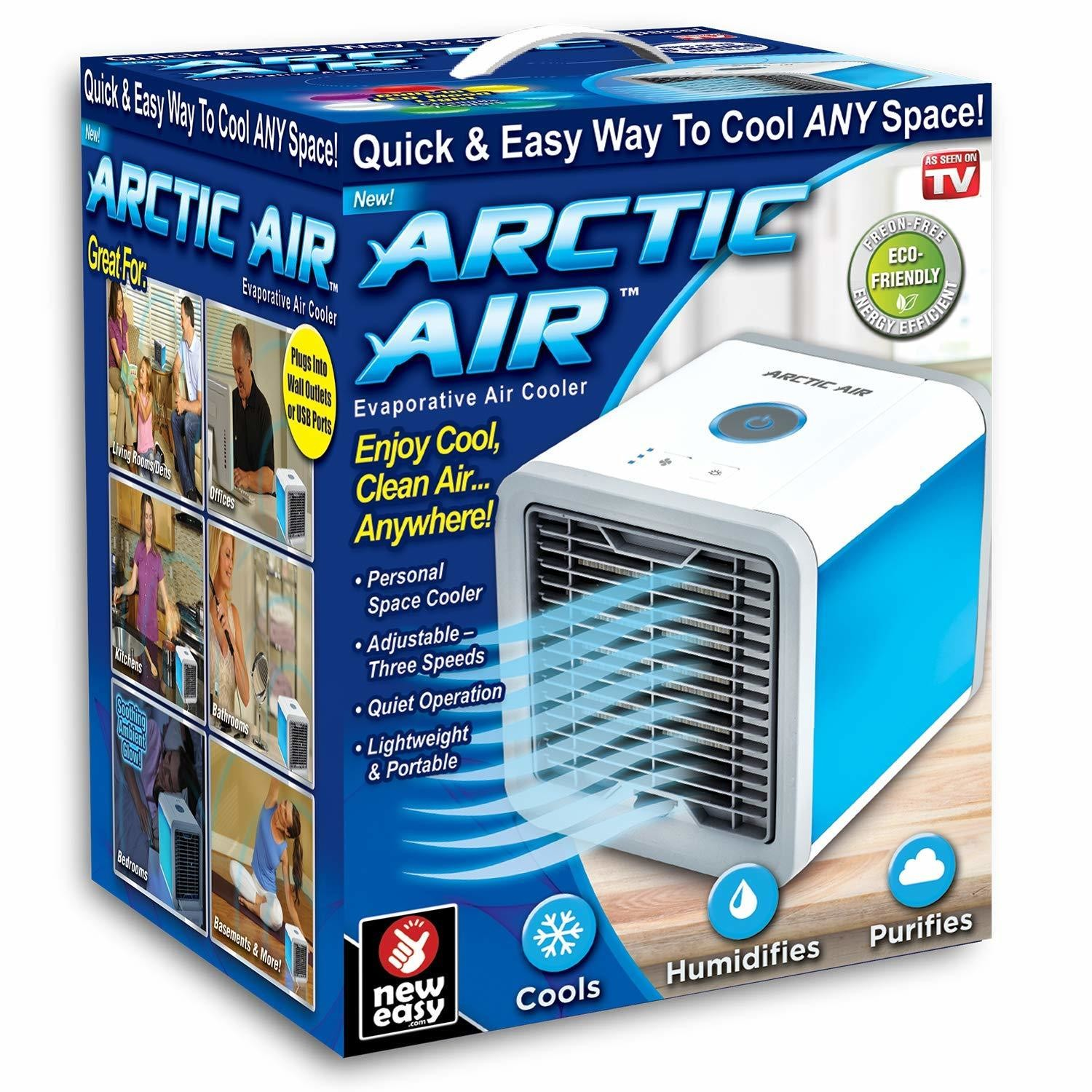 Mini Air Cooler Refroidisseur Purificateur et Humidifiant d'Air - Personal Air Cooler White Climatiseur (MODELE PRECEDENT)