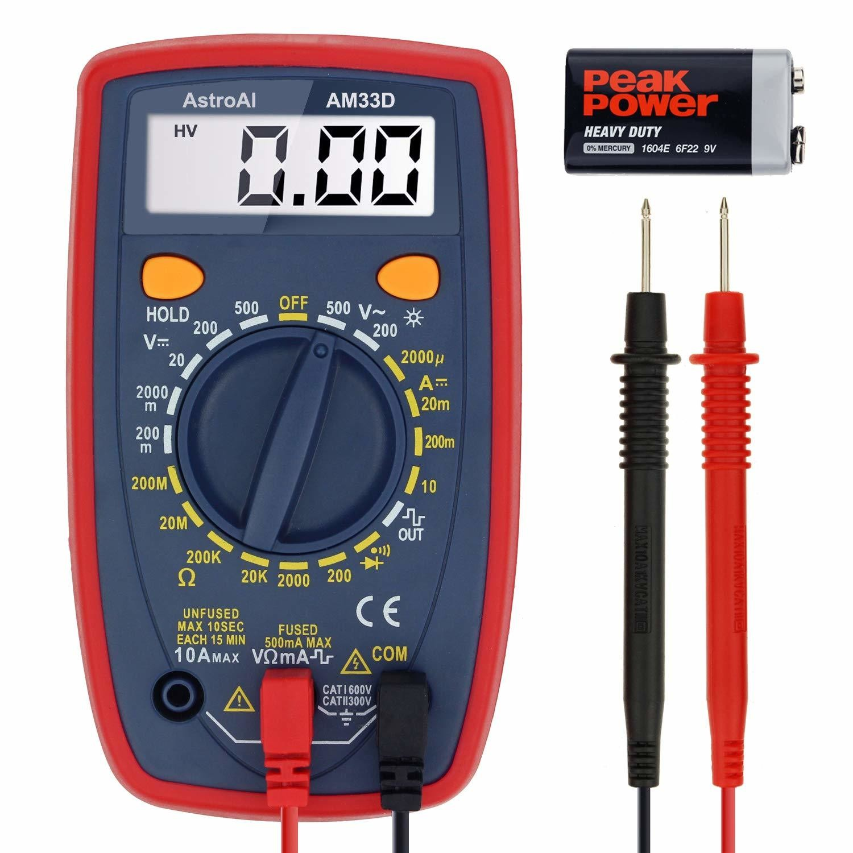 Digital Multimeter with Ohm Volt Amp and Diode Voltage Tester Meter (Intelligent Anti-burn)