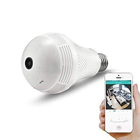 CAMERA IP AMPOULE Light Bulb Camera 360 degree Wireless IP Camera Bulb Light FishEye Smart Home Security WiFi Camera Panoramic - VENDUS A DES CLIENTS AVISES
