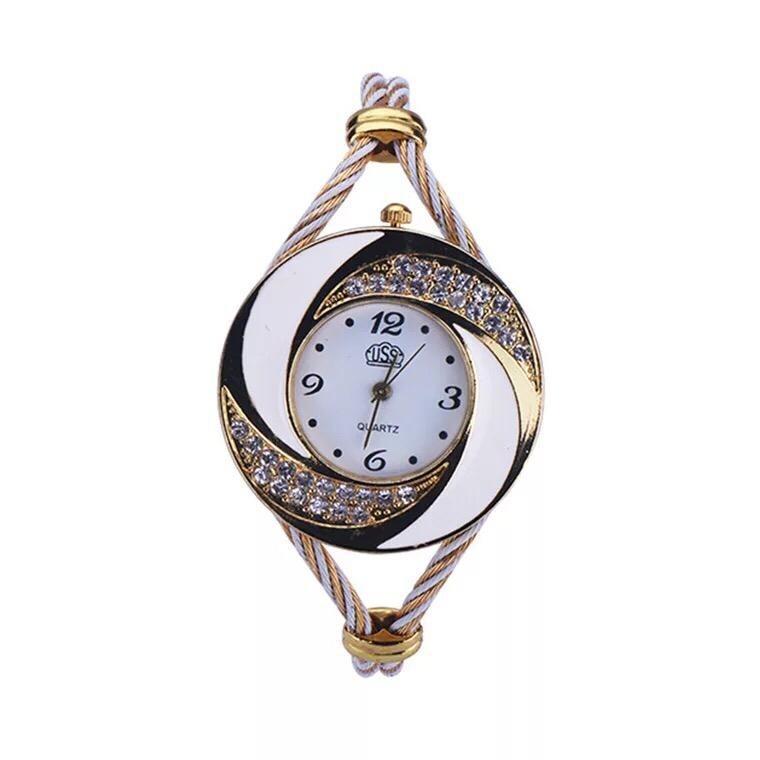 Montre Fashion pour Femme - Couleur Or-Blanc - Women's Watch Quartz Gold-Black