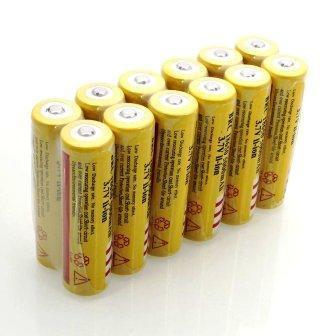 Batterie Rechargeable Battery 18650 Pour Ventilateur 3.7 V, 3000mAh (PRIX PAR UNITE)
